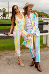 pastel striped derby outfits