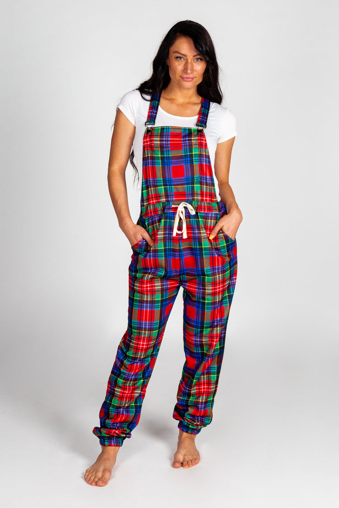 The Figgy Pudding | Women's Holiday Plaid Pajamaralls