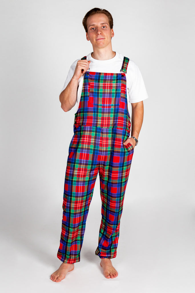 The Figgy Pudding | Mens Holiday Plaid Pajamaralls