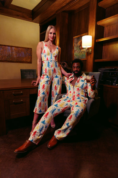 The Pine Tree Playgirl | Classy Trees Holiday Jumpsuit