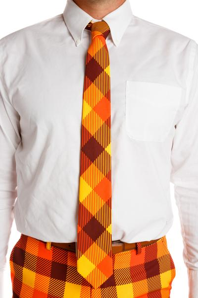 orange and yellow Thanksgiving tie