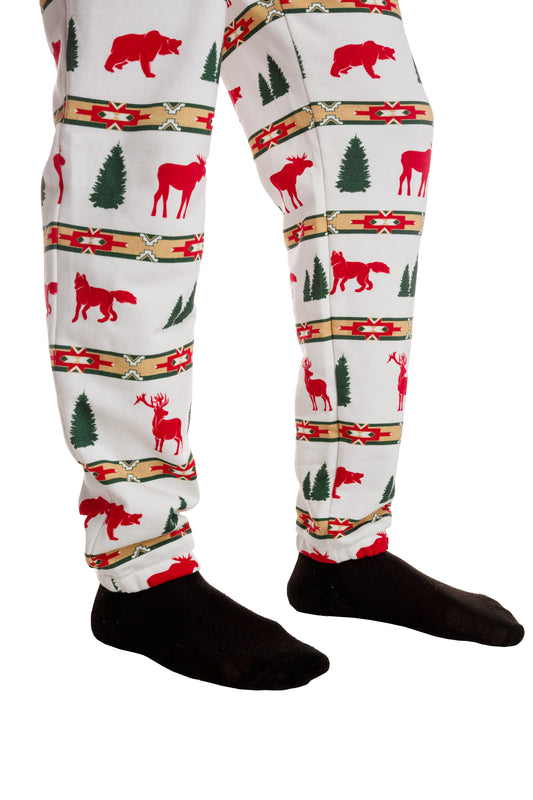 holiday theme pajama overall