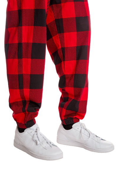 red and black checkered hammer pants