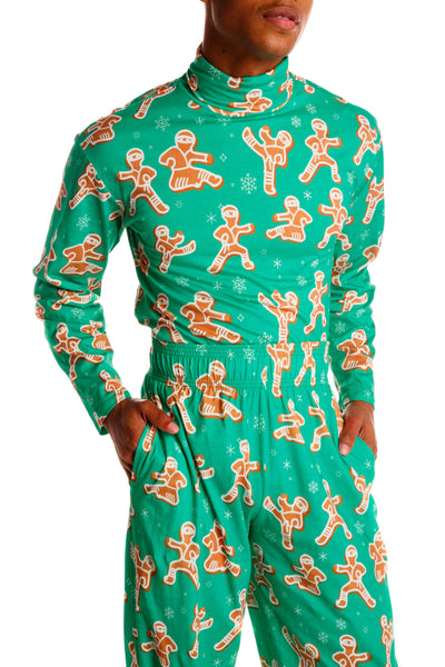 Ninja Gingerbread Cookie Turtleneck