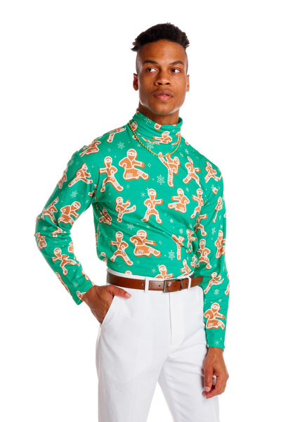 Mens Gingerbread Cookies Turtleneck