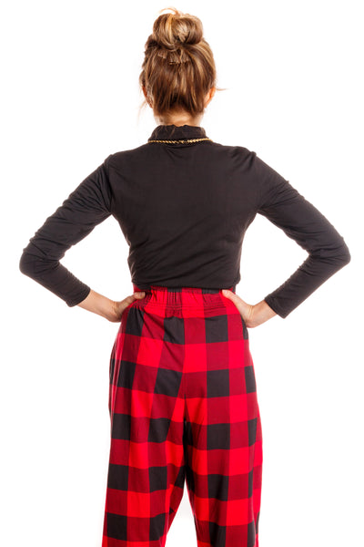 black and red checkered hammer pants