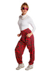Christmas Zebra Hammer Pants for Women