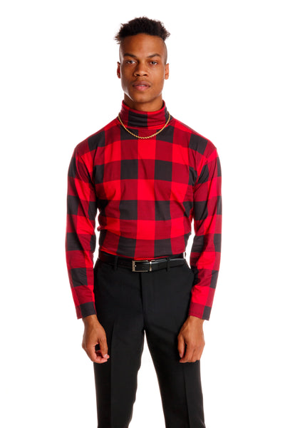 Buffalo Check Turtleneck for men