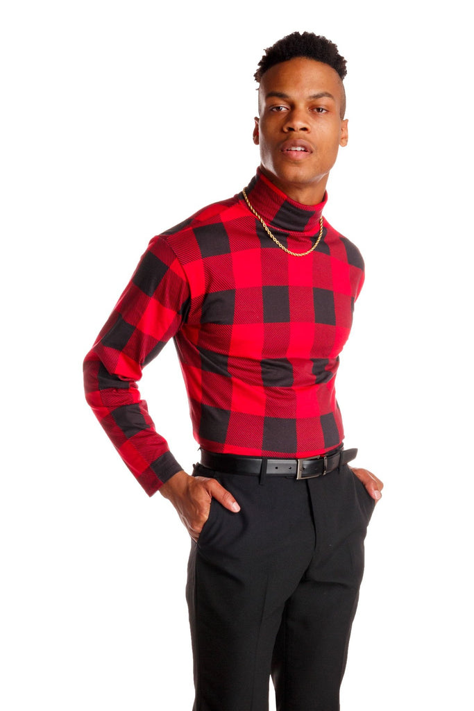 The Red & Black Lumberjack | Buffalo Check Turtleneck