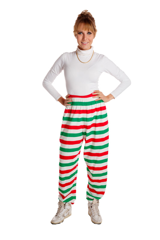 Womens Holiday Striped Hammer Pants
