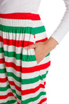 Holiday Striped MC Hammer Pants for Women
