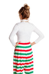 Holiday Striped High Waisted Hammer Pants