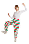 Christmas Striped High Waisted Hammer Pants for Women