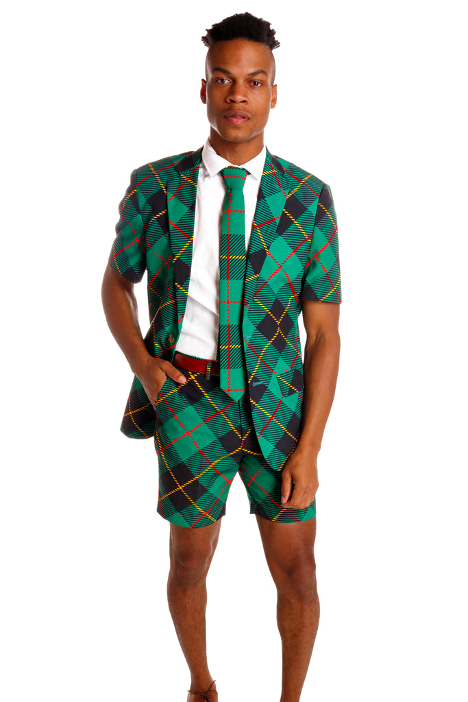 The Short Dangerfield | Thermos Plaid Christmas Short Suit