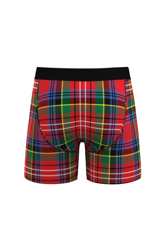 The Scotch On The Rocks | Classy Plaid Christmas Ball Hammock Pouch Underwear