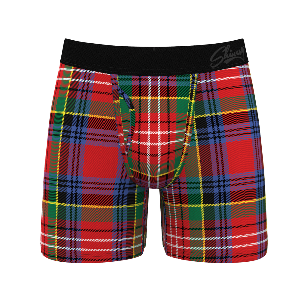 The Scotch on the Rocks | Classy Plaid Christmas Boxers