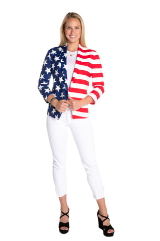 2ed3890abc88 Women s Martha J American Flag Blazer