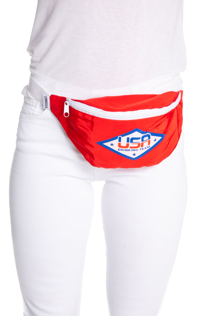 red white and blue fanny pack for women