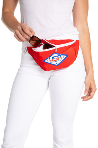 Women's USA red fanny pack