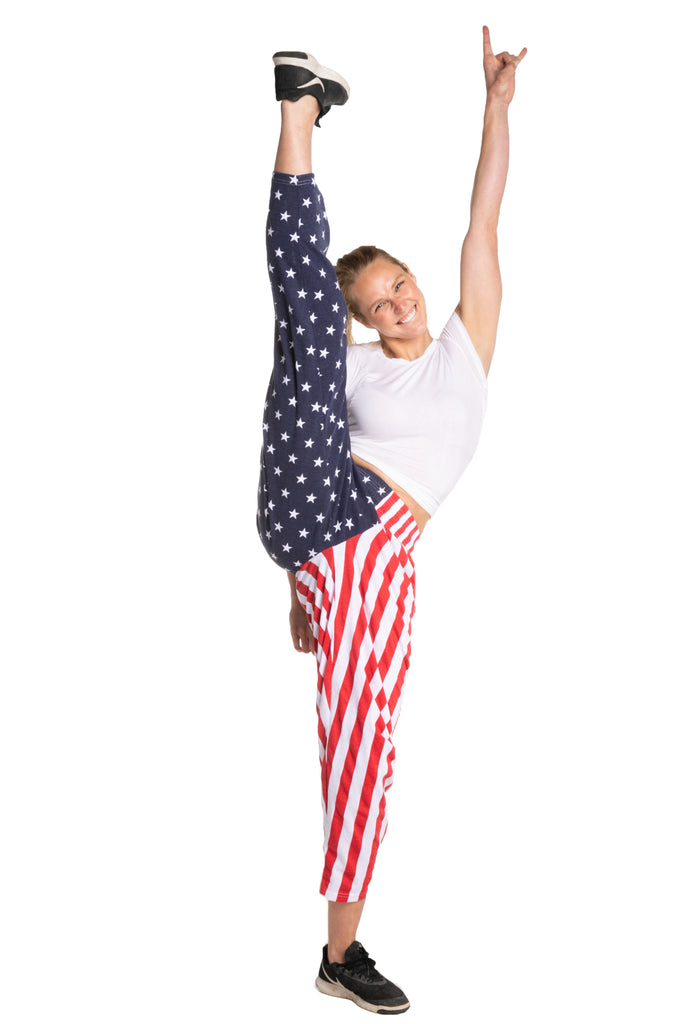 womens usa flag pants