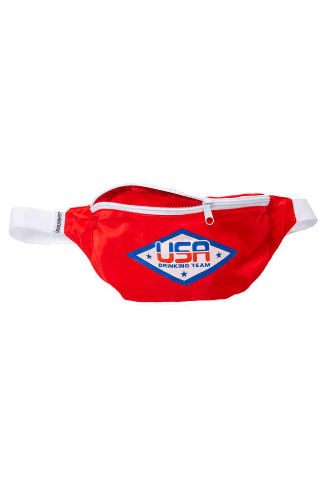 The Tequila Trafficker Red USA Drinking Team Fanny Pack for Women
