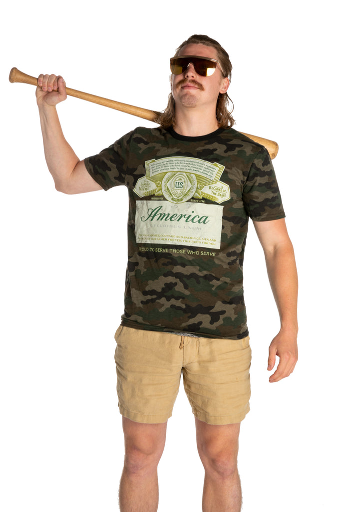 The Camo Lad | Camo Budweiser T-Shirt