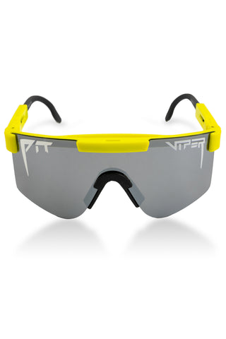 Highlighter yellow pit viper sunglasses