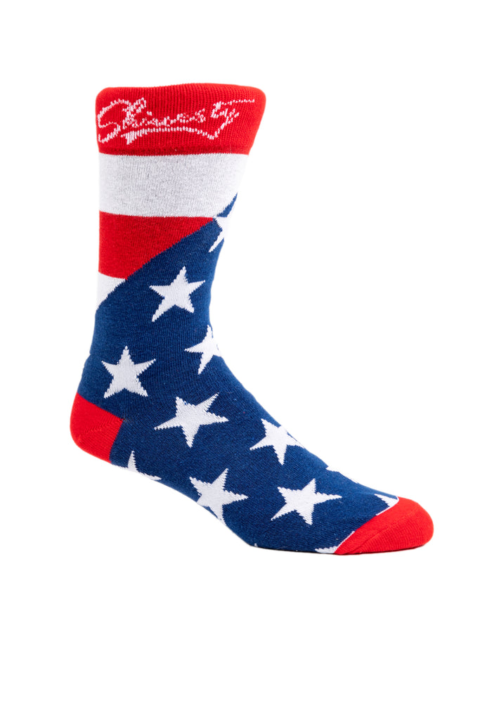 The McDouble Trouble Stars and Stripes USA Socks