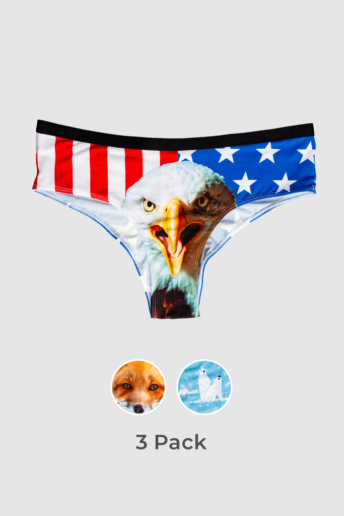 The Animal Planet | Zoo Animals Cheeky Underwear 3 Pack