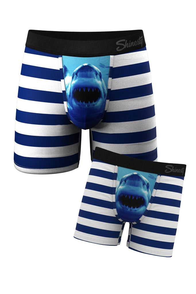 The Aquarium | Shark Matching Father Son Pouch Underwear Pack