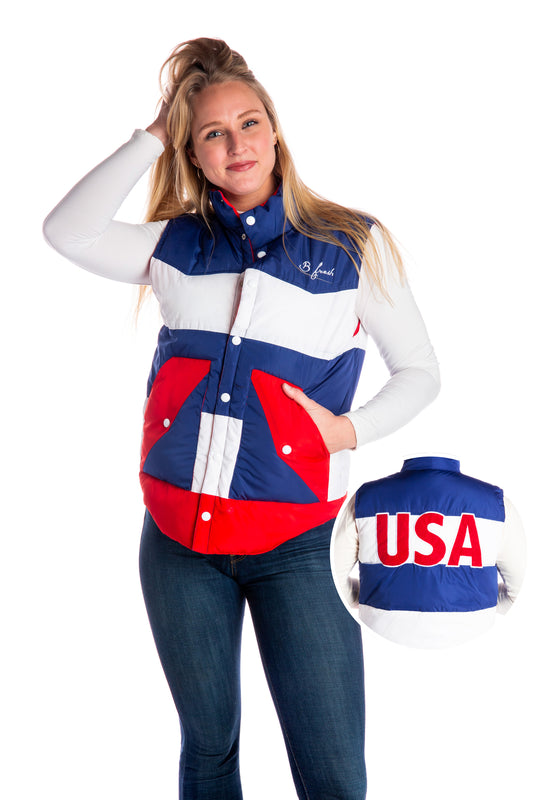 The Dry Pits | Red White And Blue Ski Vest