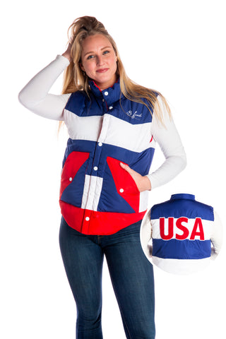 The Dry Pits Women's USA Down Vest