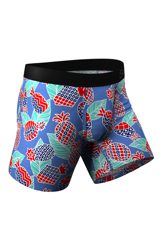 The Backyard BBQ | USA Pineapples Ball Hammock Pouch Underwear