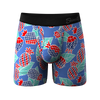 The Backyard BBQ | American Flag Pineapples Ball Hammock Boxer Briefs With Fly