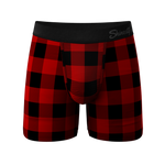 The Biggie Balls | Buffalo Check Ball Hammock Pouch Underwear