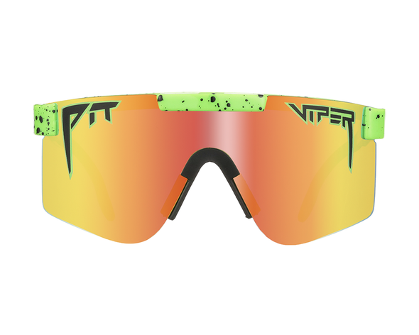 The Boomslangs | Neon Green Polarized Pit Viper Sunglasses