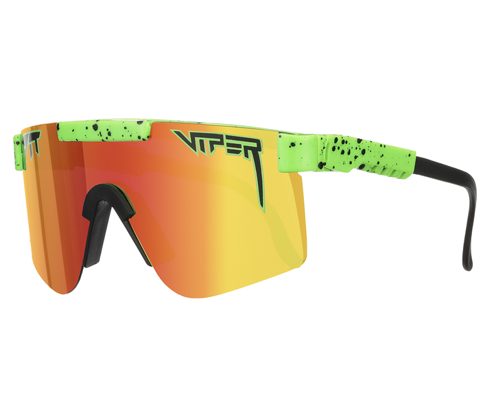 neon green & orange pit vipers