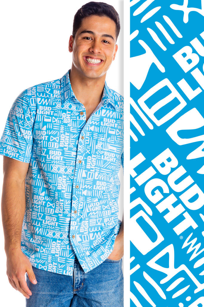 The Double Delight | Dilly Dilly Bud Light Hawaiian Shirt