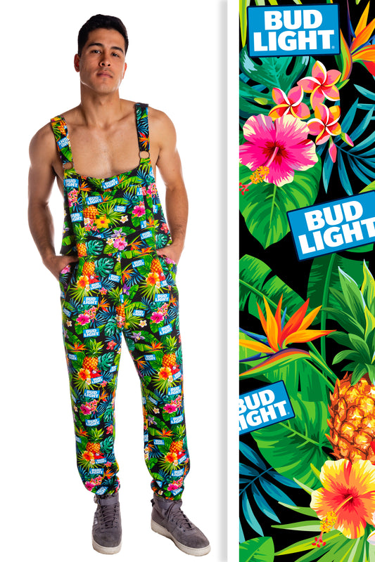 Bud Light Hawaiian Print Pajamaralls