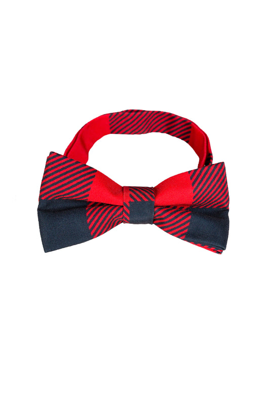 Red and Black Buffalo Check Bow Tie