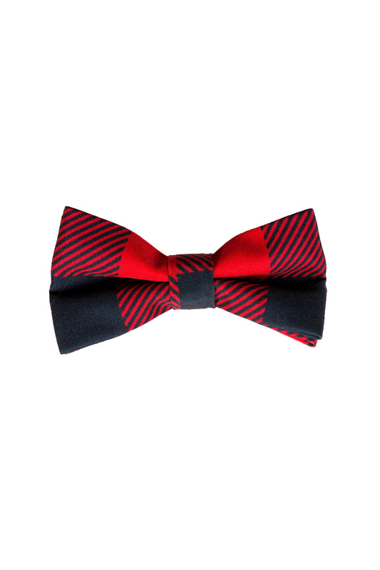 Red and Black Lumberjack Buffalo Check Bow Tie