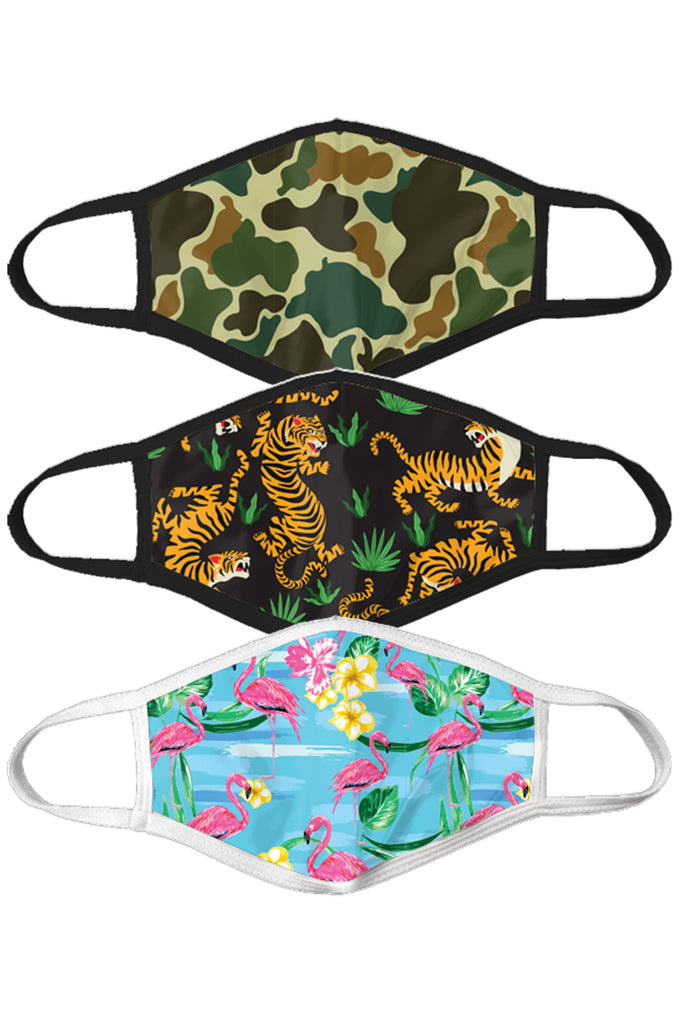 The Crouching Tiger Hidden Flamingo | Face Mask 3 Pack
