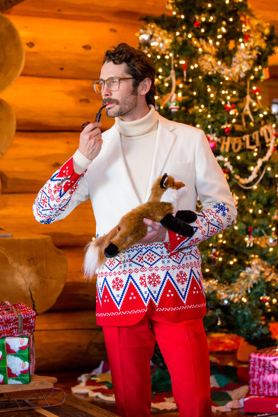 Mens Ugly Christmas Sweater Suit