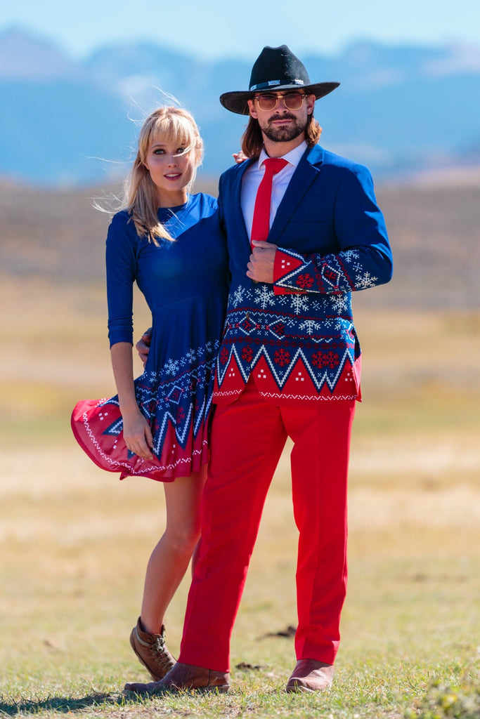 Couples Ugly Christmas Suit and Dress