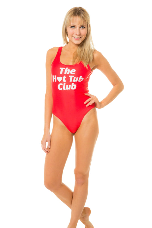The Hot Tub Club Red one piece swimsuit