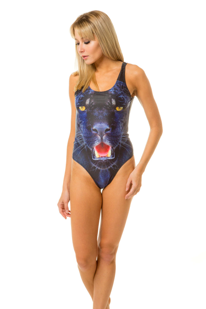 7f79eb5119 Women s roaring panther one piece swimsuit by Shinesty