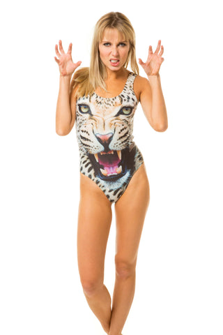 Cheetah Women's one piece swimsuit bodysuit
