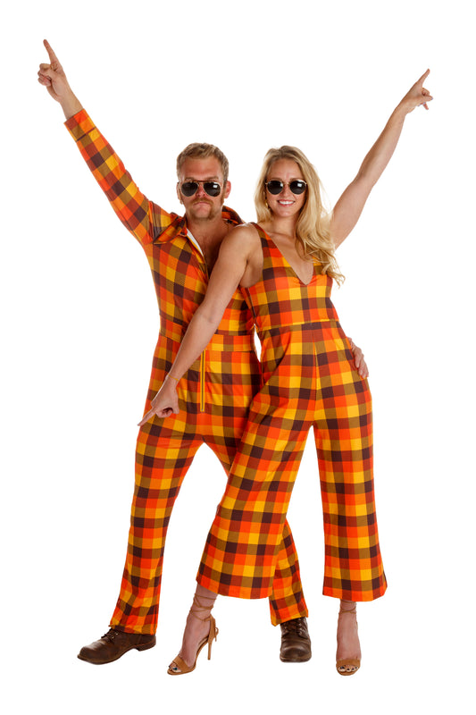 thanksgiving plaid womens jumpsuit
