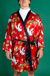 All doved up men's kimono robe