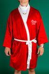 red and white holiday kimono for men